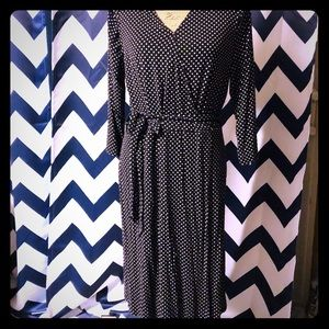 Black and white cross front dress